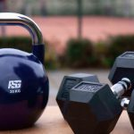 kettlebell and dumble